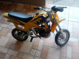 Super mini moto cross 49 cc motor 2 tempos