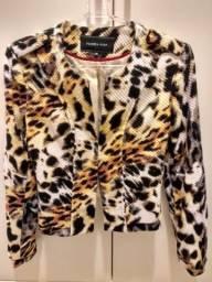 Vendo ou troco blazer animal print