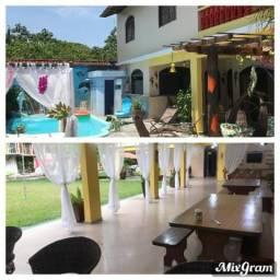 Aluguel temporada mosqueiro, 7 Quartos, piscina, sauna, campo futebol, vólei, 2 salões