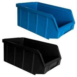 Gavetas Nº3 Preto/Azul Plástico Usadas Bom Estado Estante Gaveteiro Organizador Empilhável