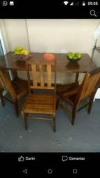 Armário madeira ,mesa,c/5cadeiras