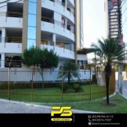 Apartamento com 4 dormitórios para alugar, 165 m² por R$ 2.600/mês - Manaíra - João Pessoa
