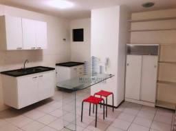 Apartamento com 1 dormitório para alugar, 41 m² por R$ 1.600,00/mês - Ponta Verde - Maceió