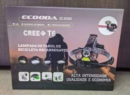 Lampada de Farol de Bicicleta Recarregável Ecooda T6