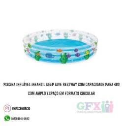Piscina inflável infantil Deep Dive Bestway com capacidade para 480 com amplo espaço