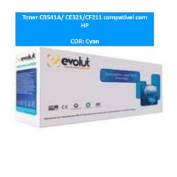 Toner CB541A/ CE321/CF211 Cyan compatível com HP- NOVO