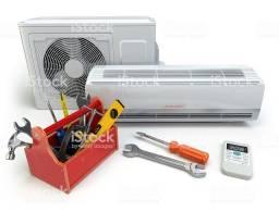 Instalação limpeza e manutenção em ar condicionado.