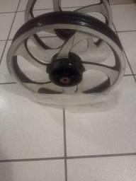 Par roda de liga leve para fan 150 freio a tambor