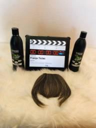 Franja de cabelo orgânico