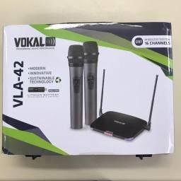 Microfone Vokal VLA-42 Duplo Sem Fio