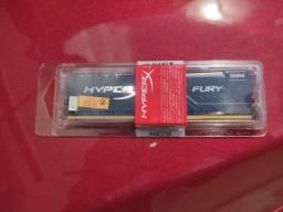 Título do anúncio: (NOVO/LACRADO) Memória DDR4 8GB 2400GHZ HYPERX FURY