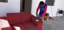 Não deixe seu sofá sujo lavamos a seco.