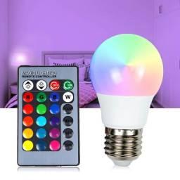 Lâmpada colorida c controle