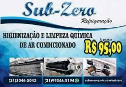 Título do anúncio: Limpeza e higienização química completa em ar condicionado