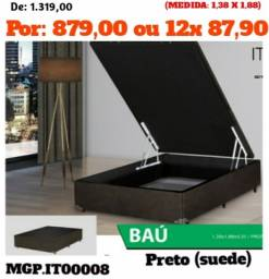 Base Box Bau Casal 138- Cama Bau Box 1,38- Cama Bau- LiquidaEstofadosMS