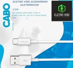 Título do anúncio: Cabo De Dados/Carregador Para Celular Tipo C - 2.4A - 1 Metro