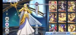 Conta saint seiya awakening 800 gemas e 6445 diamantes