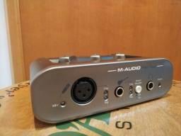 Placa De Audio M-audio Fast Track 2 Geração - Interface Usb