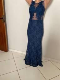 Título do anúncio: Vestido de festa usado apenas 2 vezes - Azul tamanho 40