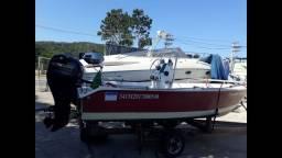 Lancha Fishing 17 pés Marca WR motor 60hp 4t 2014.