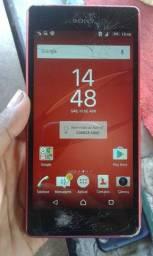 Vendo celular Sony vermelho trincado mais pegando tudo