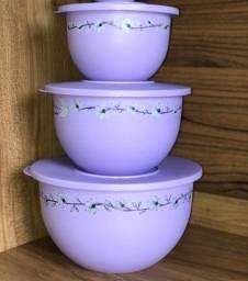 Tupperware - Kit Tigelas Murano - Orquídeas Lilás