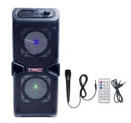 Caixa de som TRC 60w RMS com microfone e controle