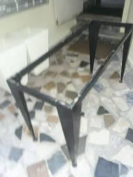 Estrutura de mesa de vidro (sem o vidro)