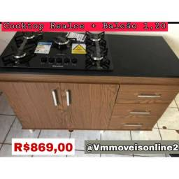 Fogão cooktop + balcão