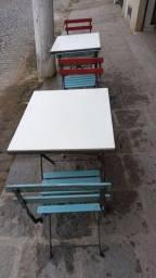 Título do anúncio: Mesas e cadeiras dobráveis.