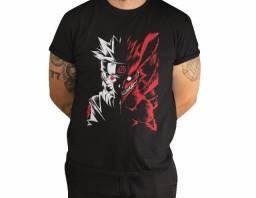 Camisa Camiseta Anime Naruto Shippuden Raposa, Manga Curta