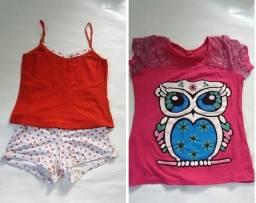 Vestidos Infantis Usados em Ótimo Estado - 12 peças (6 a 9 Anos) e Sapatos nº 35 e 37