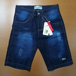 Bermuda Jeans Masculinas Primeira Linha