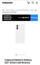 Capa protetora Original Samsung S21 plus ,Smart Led