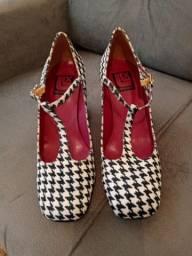 Sapato artesanal Louloux pied-de-poule