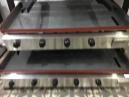 Chapa industrial inox a gás tamanho 1,00m