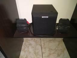 Caixa de som com subwofer para computador vendo caixa de som com subwoofer