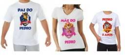 Camiseta personalizada para festa infantil