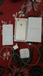 Troco iPhone 6s 16 gigas Gold