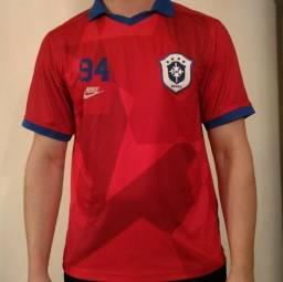 Camisa da Seleção Brasil Vermelha Edição World Champions 94 Tetra - Nike  Original - Usada c8550a517469c