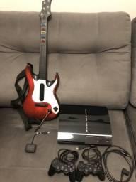 PS3 + 13 jogos + Guitarra