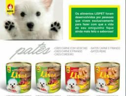 Petisco Lispet. Alimentos para Caes e Gatos