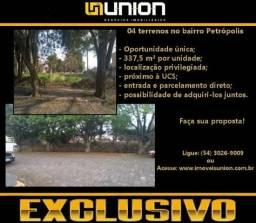 Oferta exclusiva Imóveis Union! 02 terrenos com 337,5 m² cada no bairro petrópolis!