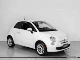 Fiat 500 Cult 1.4 Flex 8V EVO Dualogic - Branco - 2014 - 2014