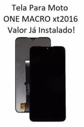 Display Completo para Moto One Macro XT2016 -Display Completo -Valor já Instalado!