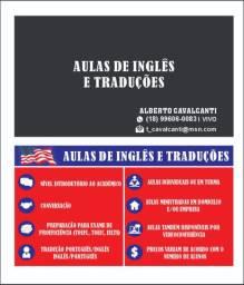 Aulas de inglês e traduções