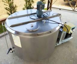 Tanque Resfriador Reafrio Tina Maturação Calda Inox Circular 500 Litros Semi Novo  Tina