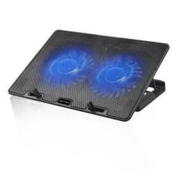 Base Para Notebook 15,6 Nbc-50bk C3 Tech com 2 coolers e Ilu - C3Tech
