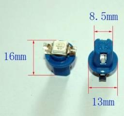 Lâmpada encaixe B8.5d 1 LED azul para painel de carro