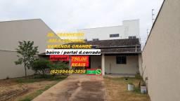 Aluguel bairro portal do cerrado 2/4 lote grande apenas 750 reais mensal lote grande